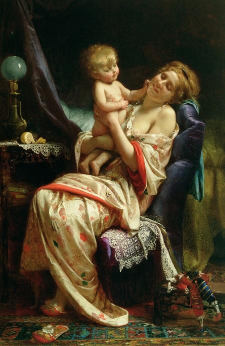 Материнство. (1873). Автор: Leon Bazile Perrault.